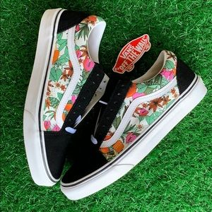 VANS OLD SKOOL MULTI TROPIC BLACK/TRUE WHITE MEN's
